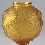 "SOLD Sabino Amber ""Floral"" Pattern Vase"