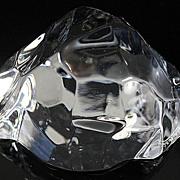 Val St. Lambert Crystal Paperweight
