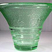 Daum Nancy Green Acid Etched Vase
