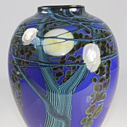SOLD Blue Harvest Moon Vase by Richard Satava