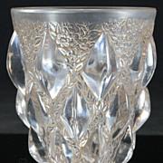 "René Lalique ""Rampillon"" Vase with Sepia Wash"
