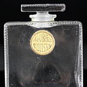 """SOLD Ren"""" Lalique Ambre d'Orsay Perfume Bottle"""