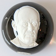 Baccarat Limited Edition Sulfide Paperweight of Adlai Stevenson