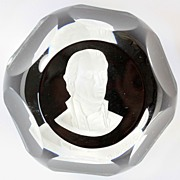 Baccarat Limited Edition Sulphide Paperweight of James Monroe