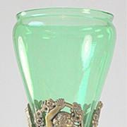 SOLD Steuben Bronze Mounted Vase