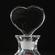 Orrefors Crystal Perfume Bottle with Heart Shaped Stopper