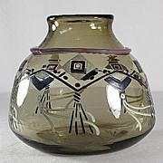 SOLD Schneider Rare Enameled Vase