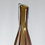 SOLD Brian Lonsway Amber Vase