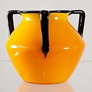 SOLD Loetz Three Handled Tango Vase