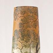 Legras Acid Etched and Enameled Cameo Vase