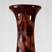 "Le Verre Francais ""Perlieres""  Pattern Cameo Vase by Schneider"