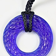"SOLD Lalique ""Epis de blés"" Blue Crystal Pendant"
