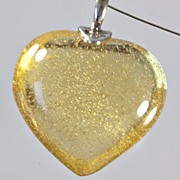 "SOLD Daum Yellow ""Coeur Passion"" Crystal Necklace"
