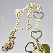 "Lalique Yellow ""Coeur Love"" Necklace"