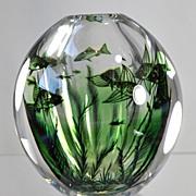 SOLD Orrefors Fish Graal Vase by Edward Hald