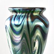SOLD Tiffany Favrile Miniature King Tut Pattern Vase