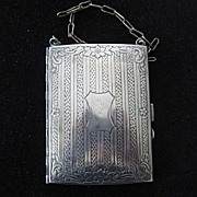 Victorian Silver Plate Coin/Notes Case and Compact
