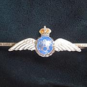 English Silver/Enamel Royal Air Force Sweetheart Pin - RAF