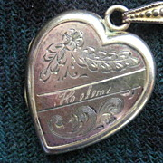 """Helen"" Vintage Heart Shaped GF Locket"