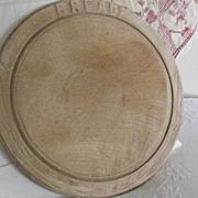 Vintage English Treen BREAD Board