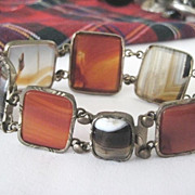 REDUCED Scottish Victorian  Bracelet with Agates and Carnelian