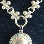 SALE REDUCED: Fabulous Large Victorian Picture Locket with Fancy Chain