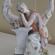 SALE Beautiful Antique German Porcelain Candelabra KM Corona w/Crown & Star