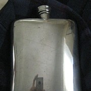 REDUCED REDUCED: LARGE Vintage Silver Plated Whisky Flask