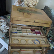 Victorian Child's Painting Craft Box