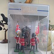 W Britain Collection of Scots Guards in Original Plastic Case