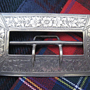 Scottish Hallmarked Silver Victorian Buckle 3 inches wide
