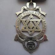 Large Masonic English Hallmarked Medallion