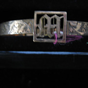 Fabulous 1920s Gold Filled Upper Arm Bangle 'M' or 'W'