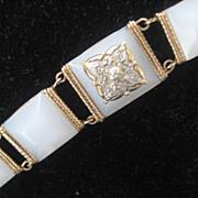 SALE Pretty Vintage Rose Colored Gold Fill Bracelet