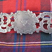 Antique Scottish Silver Brooch with Bird
