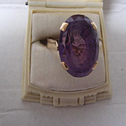 Stunning 9ct Rose Gold Amethyst Ring, Size 8.5 SEE NEW PICTURES