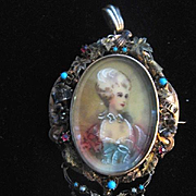 Stunning Paris Souvenir Brooch/Miniature Pendant w/Compartment