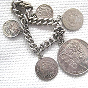 Vintage Heavy Silver Peruvian Coin Bracelet