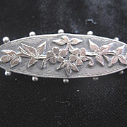 Exquisite Victorian Gold on Silver Brooch