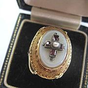 Fabulous Vintage 14kGold/Garnet Ring, Size 6