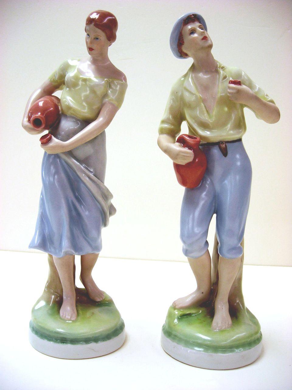 Royal Dux Porcelain Figurines Young Couple