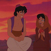 REDUCED Aladdin & Jasmine - Sunset Romance, Ltd Ed Cel by Disney Stds