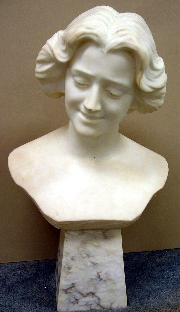 Carved Marble Sculpture Bust Of A Woman Early 20th