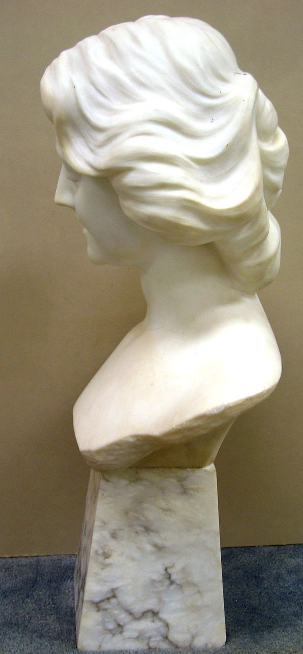 Carved Marble Sculpture Bust Of A Woman Early 20th Century From Seasideartgallery On