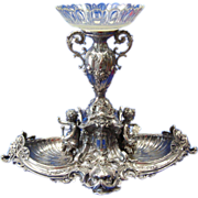 Victorian Classical Figural Silver Plated Centerpiece by WMF- Early/Mid 20th C Germany