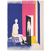 Lithograph by Paul Guiramand - Interieur