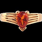 Garnet  Ring 14kt Rose Gold , Spessartite
