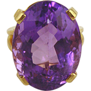 Amethyst Ring 14kt Yellow Gold - 43.82cts