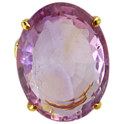 Amethyst Ring 14kt Yellow Gold - 39.96cts
