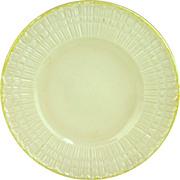 Irish Belleek Plate 'Limpet-Yellow' -3rd Green Mark